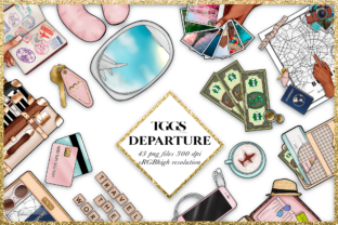 Print on Demand: SUMMER & TRAVEL PLANNER CLIPARTS Graphic Illustrations By TheGGShop 1