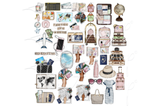 Print on Demand: SUMMER & TRAVEL PLANNER CLIPARTS Graphic Illustrations By TheGGShop 2