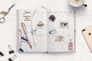 Print on Demand: SUMMER & TRAVEL PLANNER CLIPARTS Graphic Illustrations By TheGGShop 6