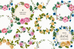 Print on Demand: Watercolor Flowers & Golden Alphabet Graphic Illustrations By Red Ink 10