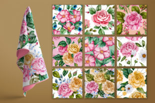 Print on Demand: Watercolor Flowers & Golden Alphabet Graphic Illustrations By Red Ink 7