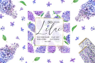 Print on Demand: Watercolor Lilac Graphic Illustrations By evgenia_art_art