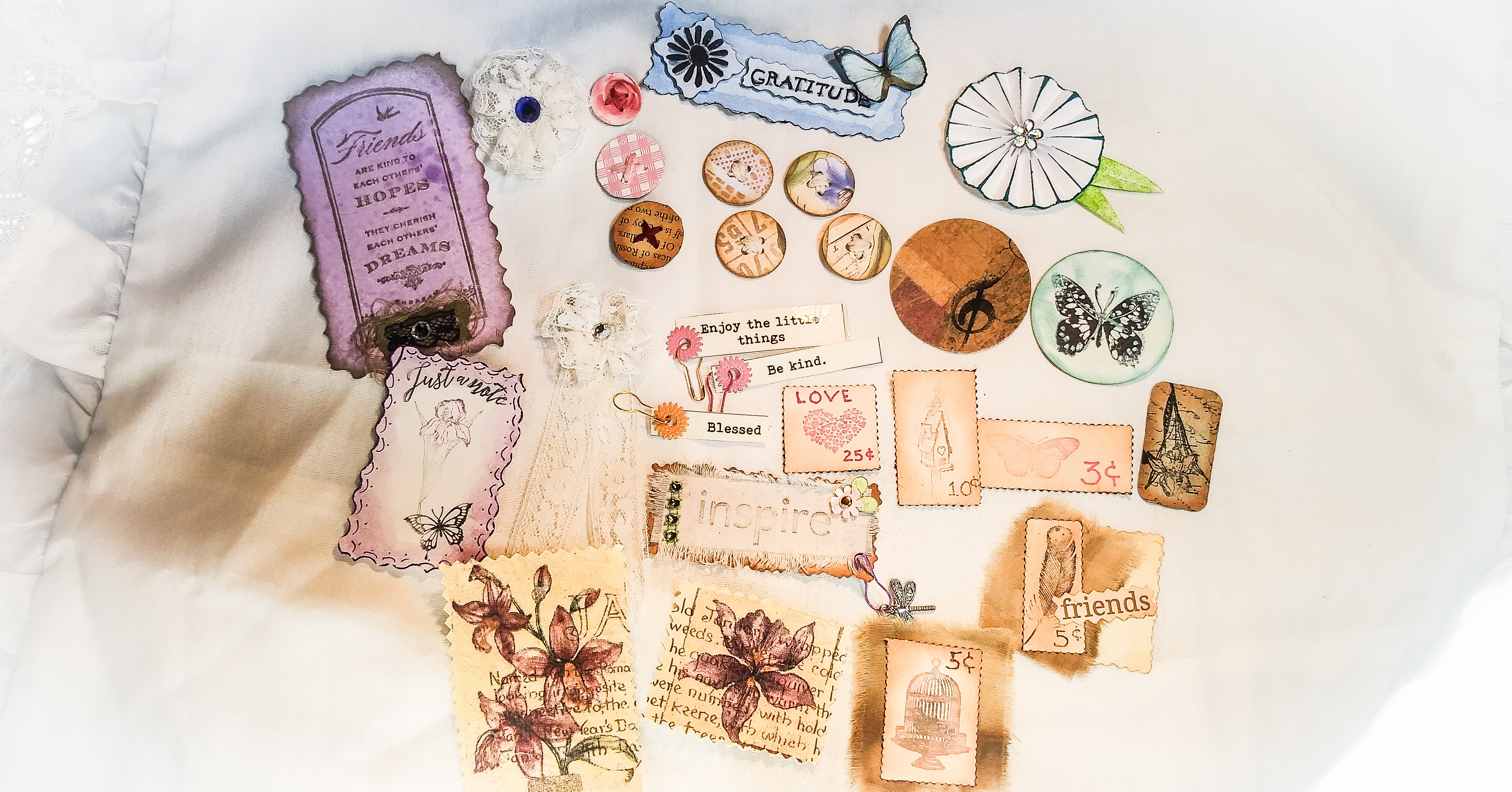 How To Make Embellishments For Greeting Cards and Journals