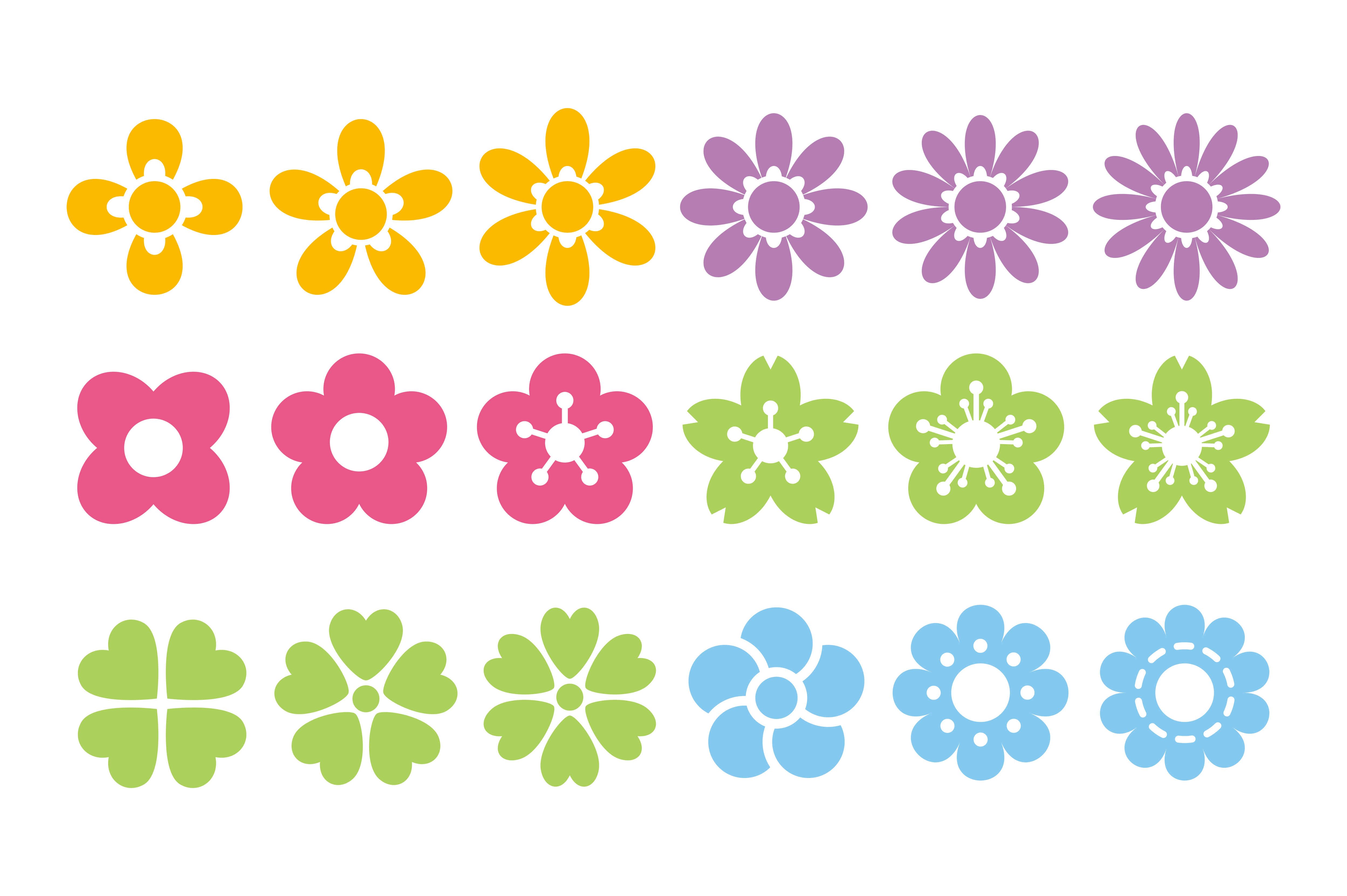 Flower Collection SVG File