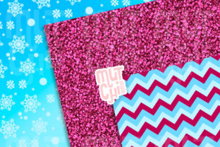 Frozen Digital Papers Graphic Backgrounds By Mutchi Design 2