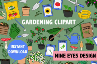 Print on Demand: Gardening Clipart Graphic Icons By Mine Eyes Design