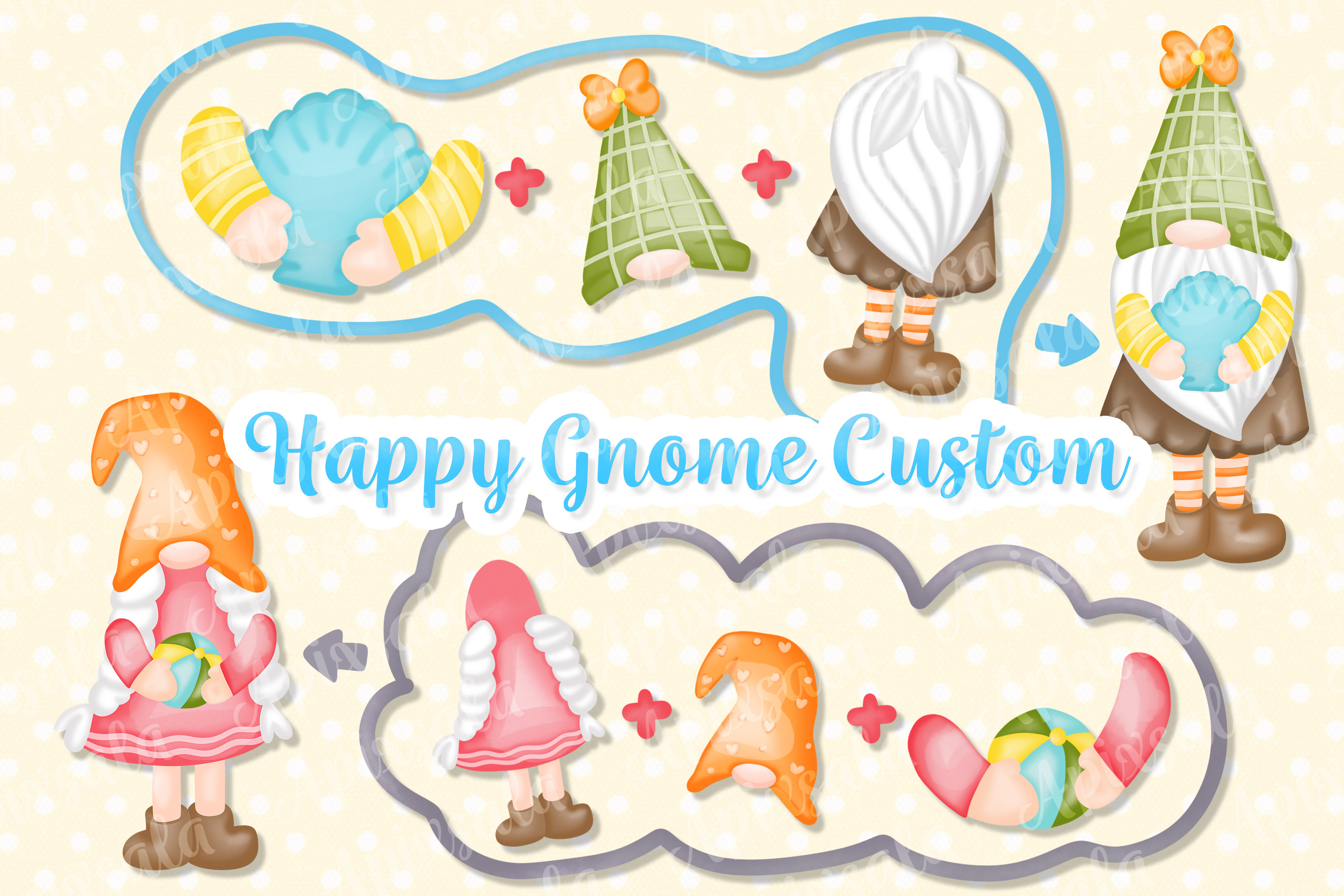 Gnome Custom Watercolor Sublimation-PNG SVG File