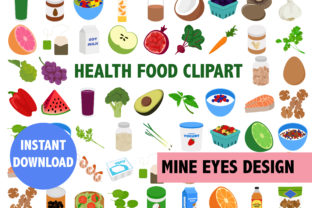 Print on Demand: Health Food Clipart Graphic Icons By Mine Eyes Design
