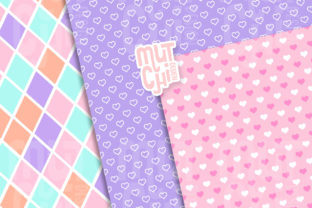 Lollypop Digital Papers Graphic Backgrounds By Mutchi Design 2