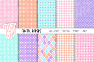 Lollypop Digital Papers Graphic Backgrounds By Mutchi Design 1