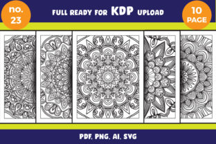 Print on Demand: Mandala Coloring Page Bundle Adult Svg Graphic Coloring Pages & Books Adults By NGISED 1