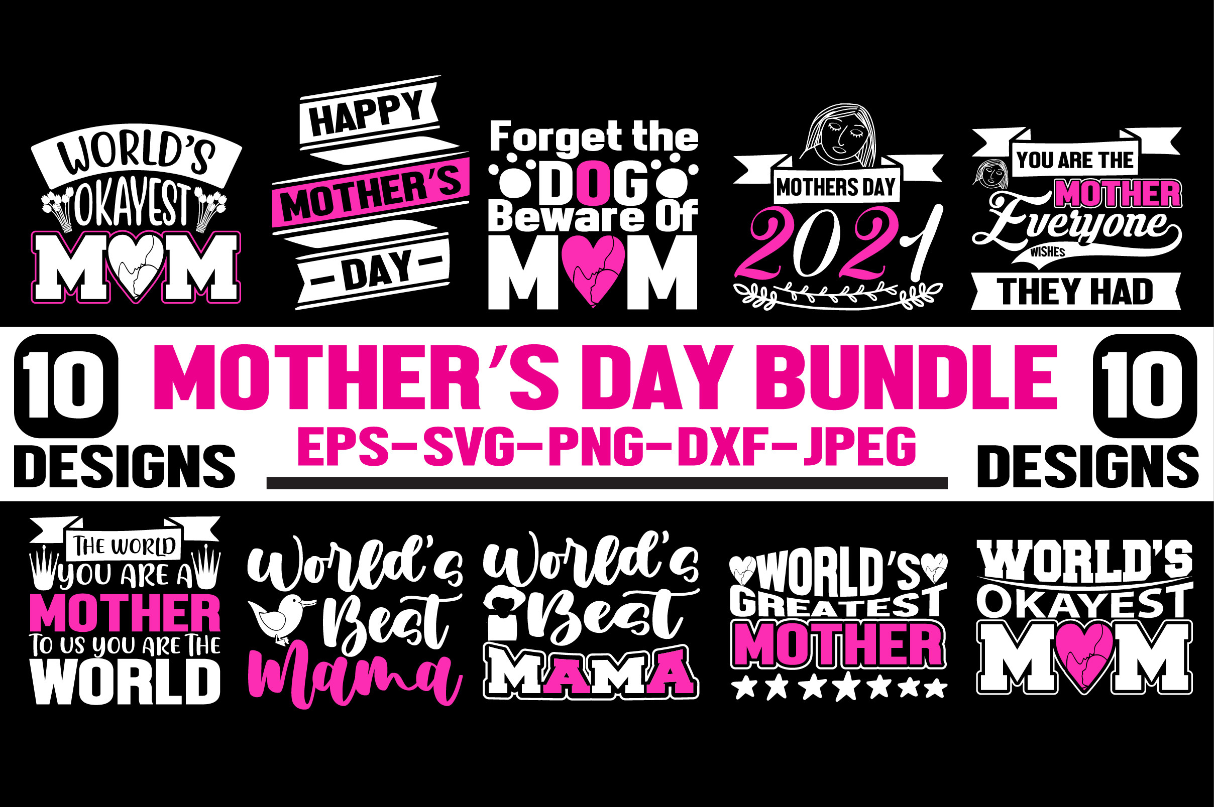 Mother's Day Quotes Bundle. SVG File