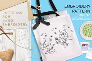 Print on Demand: Owls Branch DIY Embroidery Graphic Cross Stitch Patterns By Revidevi