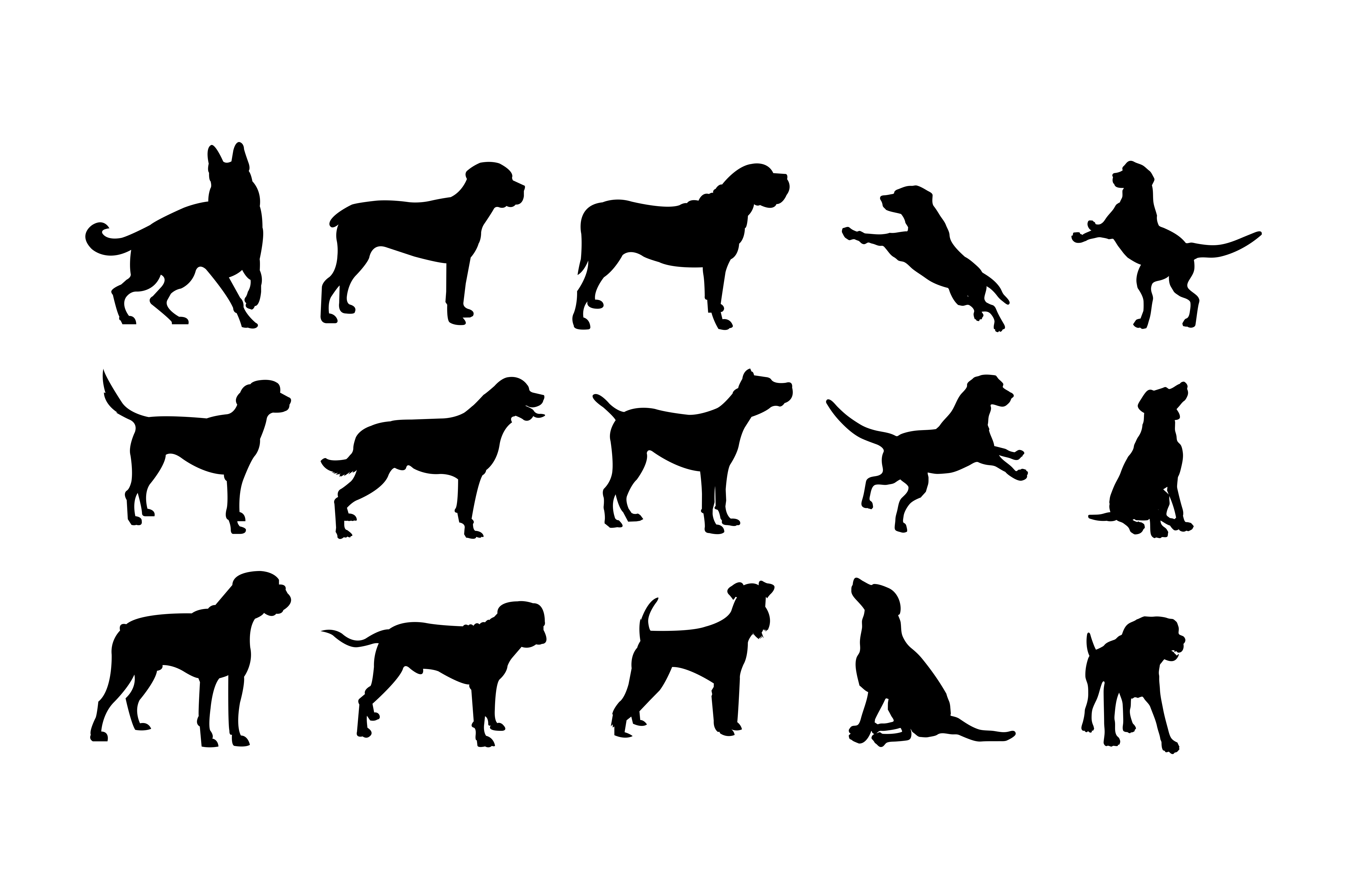 Silhouettes Dog SVG File