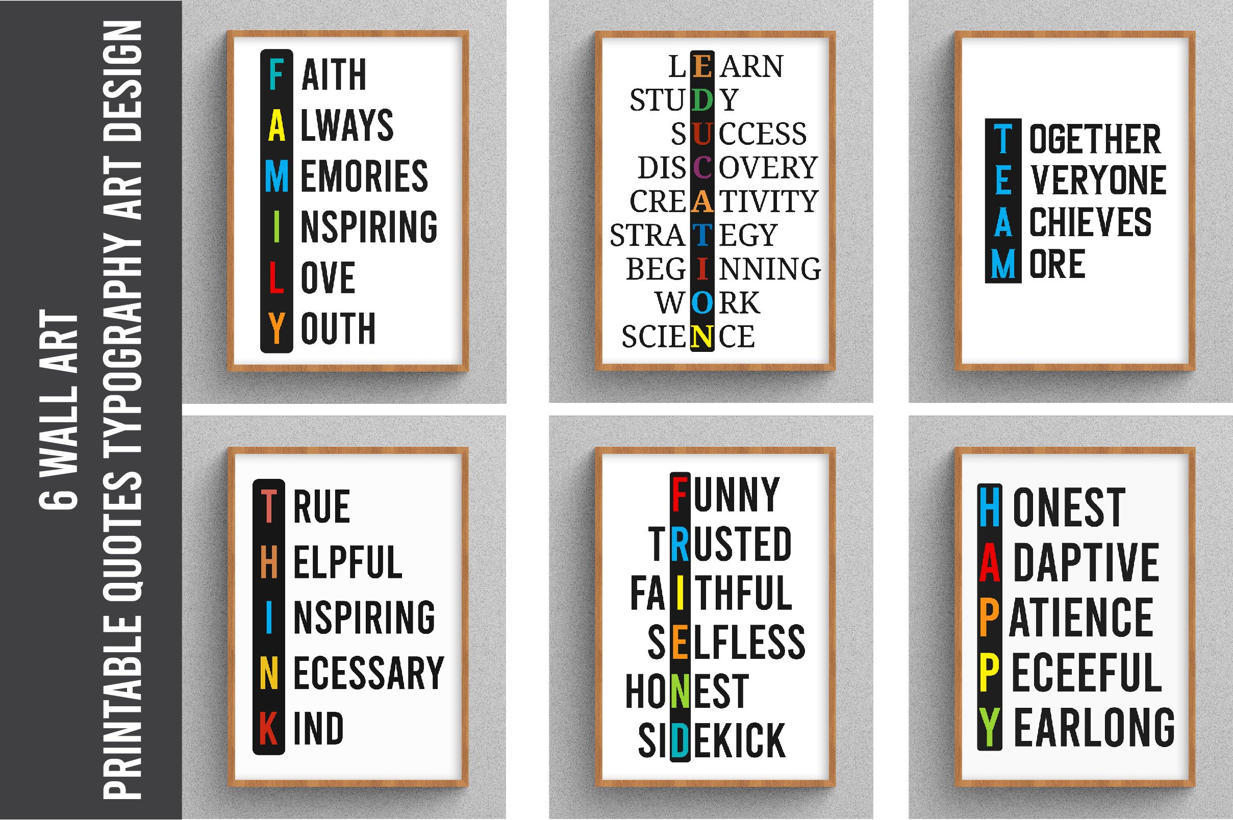 Wall Art, Printable Quotes Art Design SVG File
