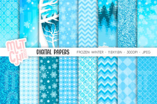 Winter Digital Papers Graphic Backgrounds By Mutchi Design