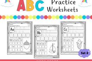 ABC Practice Worksheets (Set 2) Graphic K By Happy Kiddos