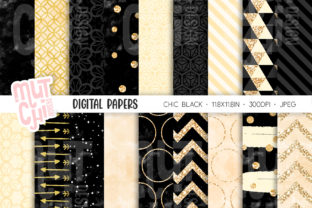 Black Chic Patterns Graphic Backgrounds By Mutchi Design