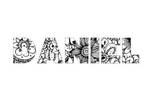 Print on Demand: Daniel Name Coloring Page Graphic Graphic Coloring Pages & Books By bengalcanvas
