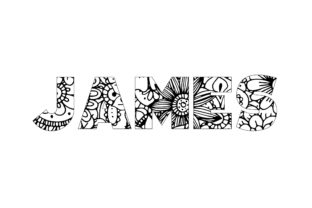 Print on Demand: James Name Coloring Page Graphic Graphic Coloring Pages & Books By bengalcanvas