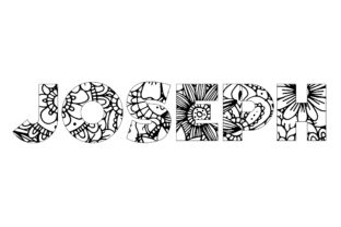 Print on Demand: Joseph Name Coloring Page Graphic Graphic Coloring Pages & Books By bengalcanvas