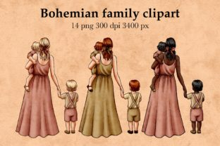 Mother and Children Clipart Graphic Illustrations By Arte de Catrin