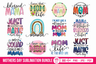 Mother's Day Sublimation Bundle Vol.2 Graphic Crafts By CraftlabSVG 1