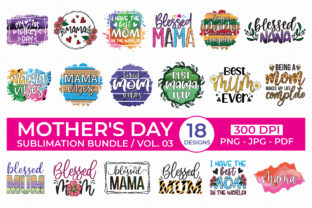 Mother's Day Sublimation Bundle Vol.3 Graphic Crafts By CraftlabSVG 1
