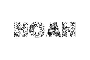Print on Demand: Noah Name Coloring Page Graphic Graphic Coloring Pages & Books By bengalcanvas