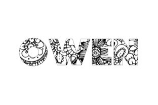 Print on Demand: Owen Name Coloring Page Graphic Graphic Coloring Pages & Books By bengalcanvas