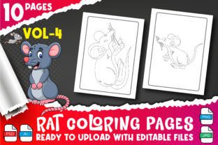 Rat Coloring Book for Kids Vol-4 Graphic Coloring Pages & Books Kids By Profit creator 1