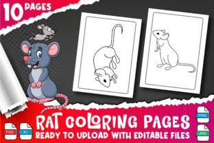 Rat Coloring Book for Kids Vol-4 Graphic Coloring Pages & Books Kids By Profit creator 2