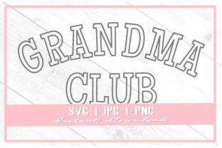Print on Demand: Vintage Grandma Club Varsity Mother's Graphic Illustrations By thecouturekitten
