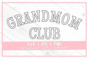 Print on Demand: Vintage Grandmom Club Varsity Mother's Graphic Illustrations By thecouturekitten