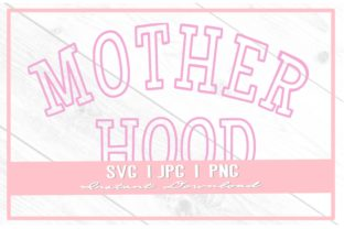 Print on Demand: Vintage Motherhood Varsity Mother's Day Graphic Illustrations By thecouturekitten