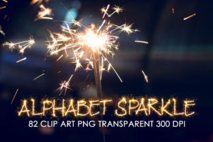 Print on Demand: Alphabet Sparkle Overlay Photoshop Graphic Layer Styles By The Rose Mind