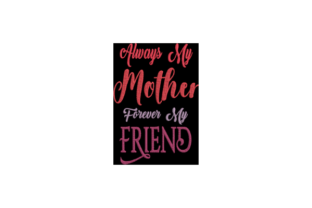 Always My Mother Mutter Stickdesign von Wingsical Whims Designs