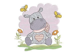 Baby Hippo Babies & Kids Embroidery Design By Canada Crafts Studio