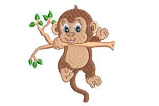 Baby Monkey Babies & Kids Embroidery Design By Canada Crafts Studio