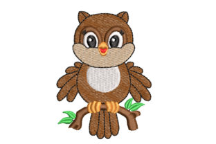 Baby Owl Babies & Kids Embroidery Design By Canada Crafts Studio