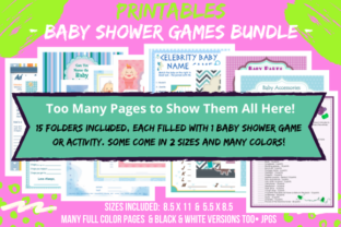Print on Demand: Baby Shower Games & Activities Bundle Graphic Print Templates By Tomboy Designs