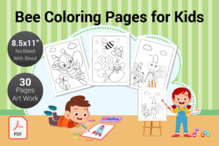 Print on Demand: Bee Coloring Pages for Kids KDP Interior Graphic Coloring Pages & Books By PEN_TOOLS