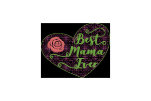 Best Mama Ever Mother's Day Embroidery Design By Wingsical Whims Designs