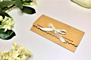 Print on Demand: Cash Envelope with Ribbon Holes SVG DXF Graphic 3D SVG By DESIGNS NOOK