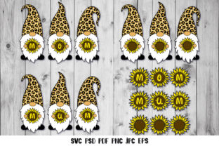 Gnome Mom, Sunflower Mom Graphic Crafts By goodfox86