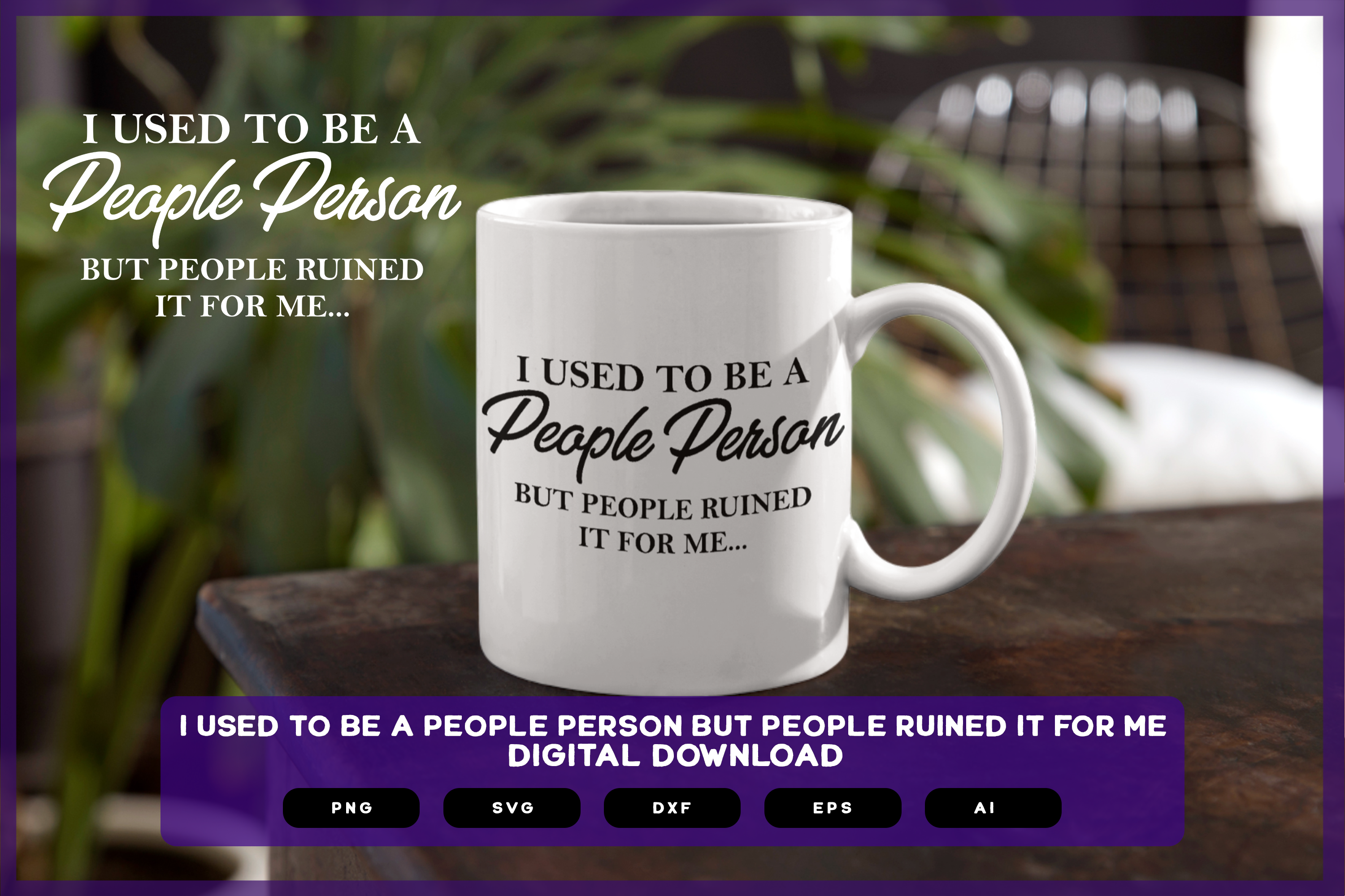 I Used to Be a Good Person... SVG File