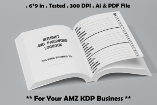 Internet Address and Password Logbook Graphic KDP Interiors By Kdp Speed