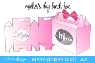 Print on Demand: Mothers Day Lunch Box Graphic 3D SVG By Maná Design 1