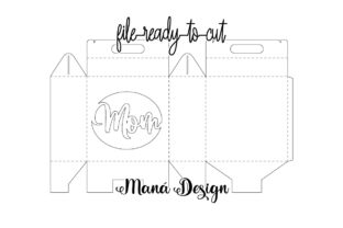 Print on Demand: Mothers Day Lunch Box Graphic 3D SVG By Maná Design 2