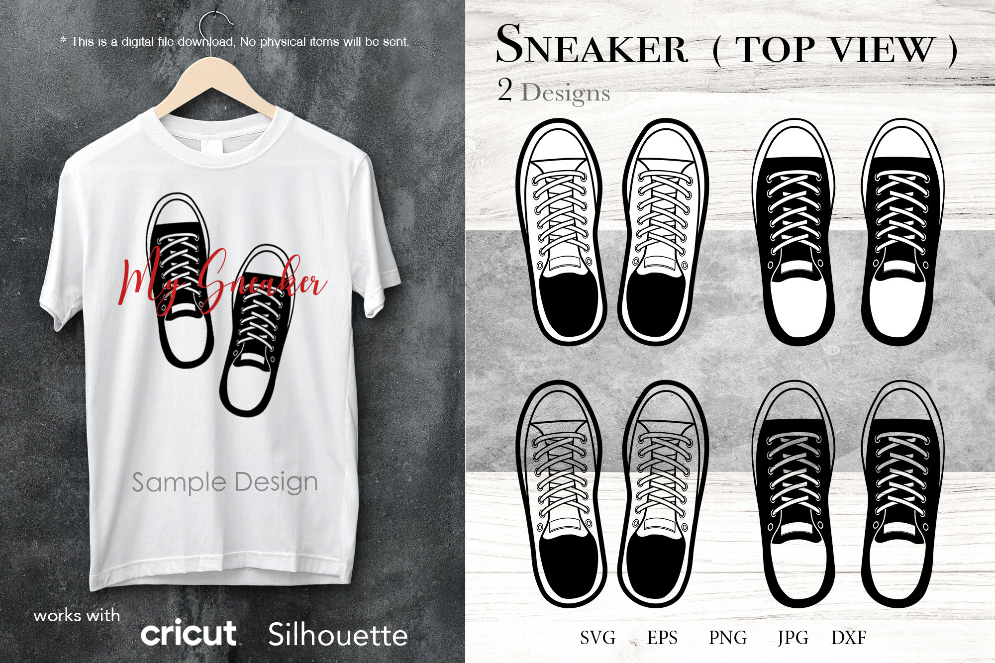 Sneakers SVG, Sumlimation Png Clipart SVG File